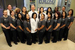 Specialized laser eye center staff