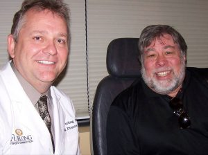 Dr. Furlong and Steve Wozniak