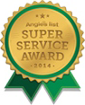 Angie's List Super Service Award for high-level customer service