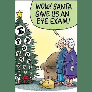 Regular eye exams are important.